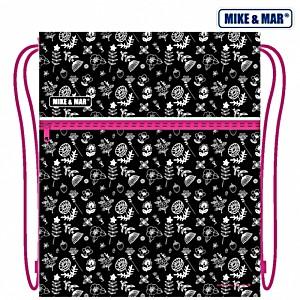 Мешок для обуви Mike&Mar Майк Мар Цветы черный